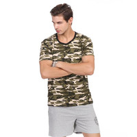 Man Casual Camouflage T shirt Men Cotton Army Tactical Combat T Shirt Military Camo Mens T Shirts Fashion Tops Tees AE87