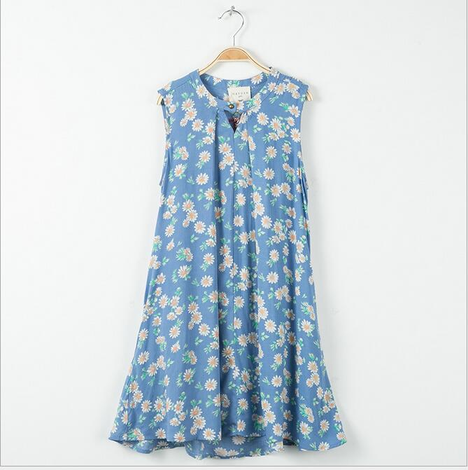 2017 Teenager Print Floral Dresses Junior Cotton Ruffles Dress Big font b Kids b font Girls