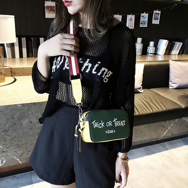 Fashion Lady Bag Simple Shoulder Slung Hand Letter Leisure Banquet 6 Color Optional Wild Super Frosted PU Fabric Bags