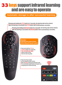 Image 2 - Wechip G30 Voice Afstandsbediening 2.4G Draadloze Air Mouse Microfoon Gyroscoop Ir Leren Voor Android Tv Box HK1 H96 max X96 Mini