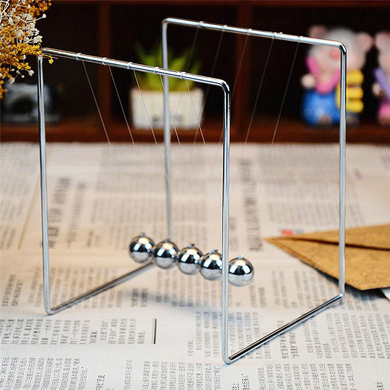 Cool metal ball decoration metal stents Newton pendulum balls for desk ornaments bumper ball pool balls