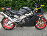 Hot Sales,Aftermarket Fairing for Aprilia RSV 1000 R 03 04 05 06 2003-2006 bodykits RSV 1000 All Black Motorcycle Fairings