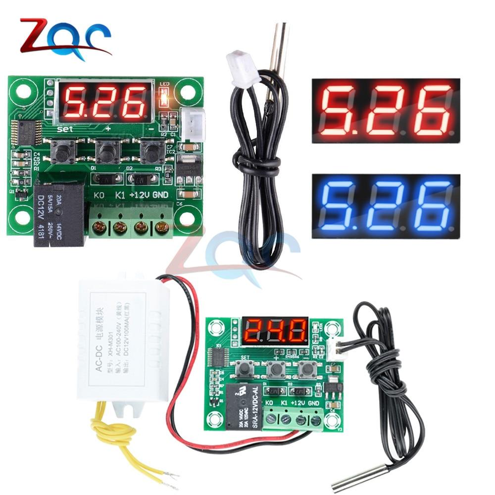 AC 110V-220V to DC 12V Voltage Power Supply Module W1209-50-110°C Thermostat