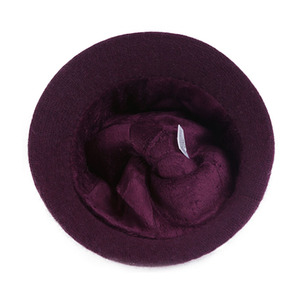 Image 5 - FS נשים צמר ארנב פרווה סרוג פדורה כובע אופנה בציר רחב ברים נקבה חורף כובעי צוואר חם כובע עם צעיף