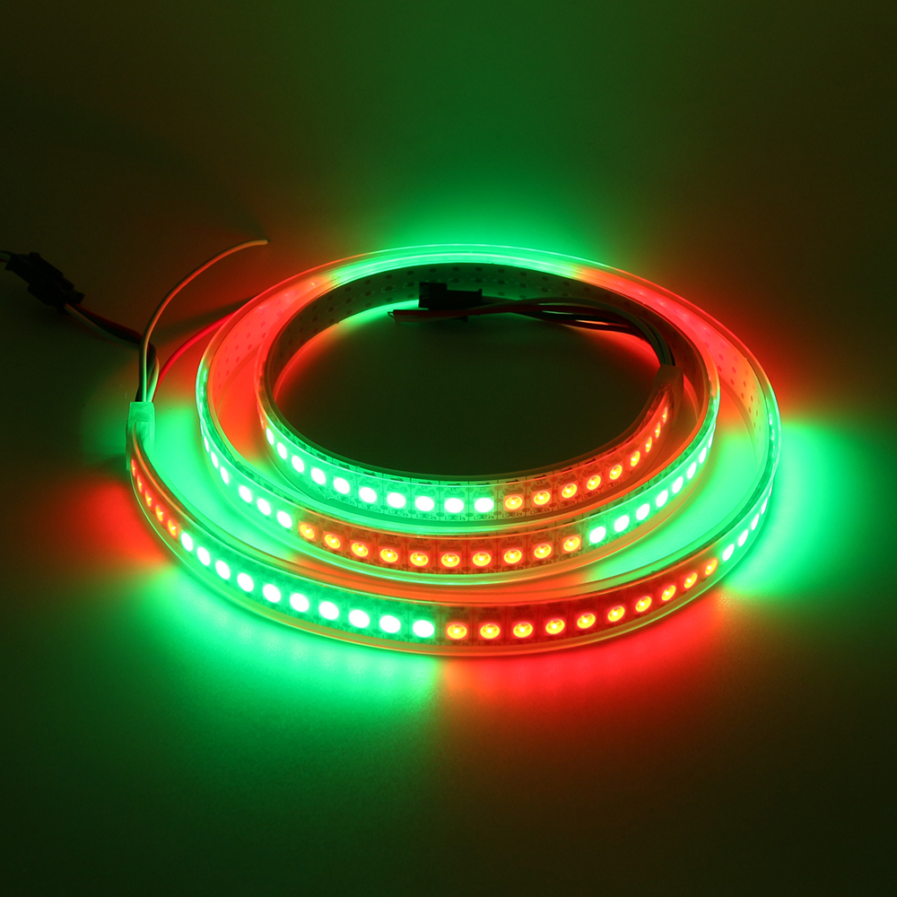 144Leds/M Led strip waterproof light RGB full color led tape night lighting Strips DC5V WS281 SMD lamp Tape Bright lamp