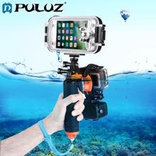 Puluz 3 in 1 Pistol Trigger Set Shutter Trigger+Phone Clamp+Floating Hand Grip Diving Buoyancy Stick Adjustable Anti-lost