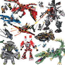 legoing Dragon Boat Robot Batman Temple Sets Building Blocks Compatible Legolled Ninjagoed Movie Bricks Toys for Boy Children(China)