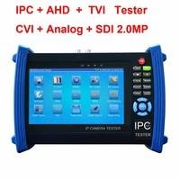 Камера HD 4k тестер 4 К H.265 ipc 8MP TVI CVI, 5MP AHD SDI/EX SDI 7 дюймов retina Сенсорный экран WI FI кабель tracer видео измеритель