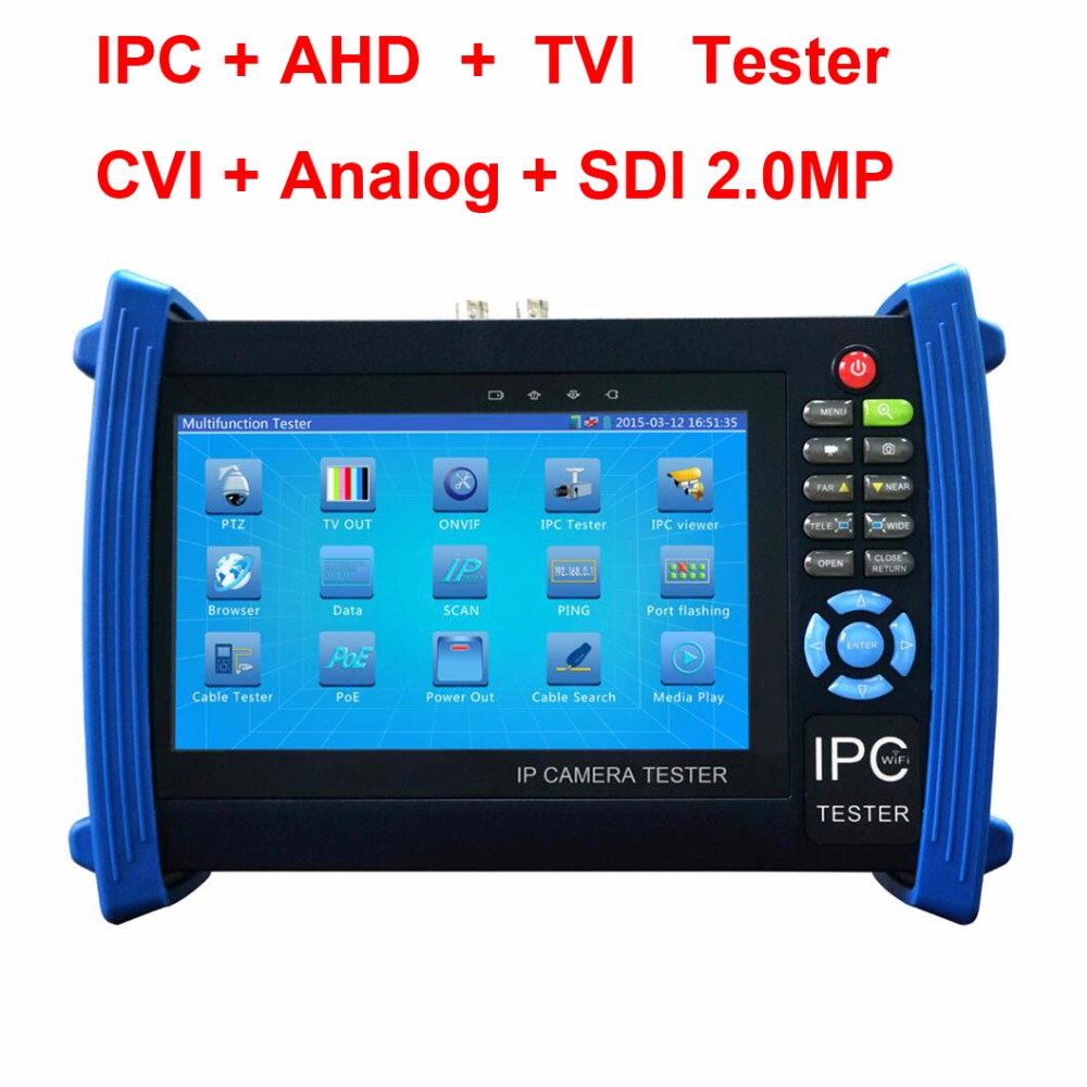IP Camera Tester 7Inch Touch Screen 1080P HDMI CCTV Camera Tester POE/WIFI/TVI/CVI/AHD/Analog Tester SDI Tester ips touch screen cvbs ahd dahua cvi tvi sdi ip cameras analog cctv camera tester