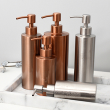 Rose Gold Metal Storage Bottle Scandinavian Bath Shampoo Sub-bottles Chic Kitchen Detergent Soap Dispenser 250ml 350ml 550ml