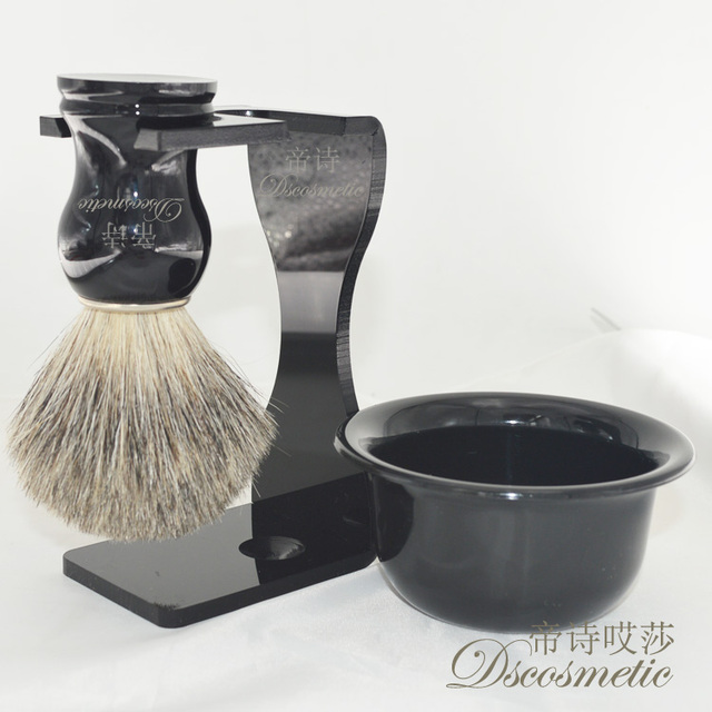 wet Men's Shaving Set/kit  Drip Brush Stand + Pure Badger Hair shaving Brush + Bowl Mug mens shaving products