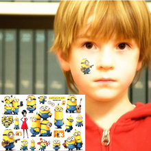 New Minions Child Temporary Flash Tattoo Body Art Sticker 1 Sheet 17*10cm Toy Tatoo Waterproof Tatto EN71 Quality FREE SHIPPING