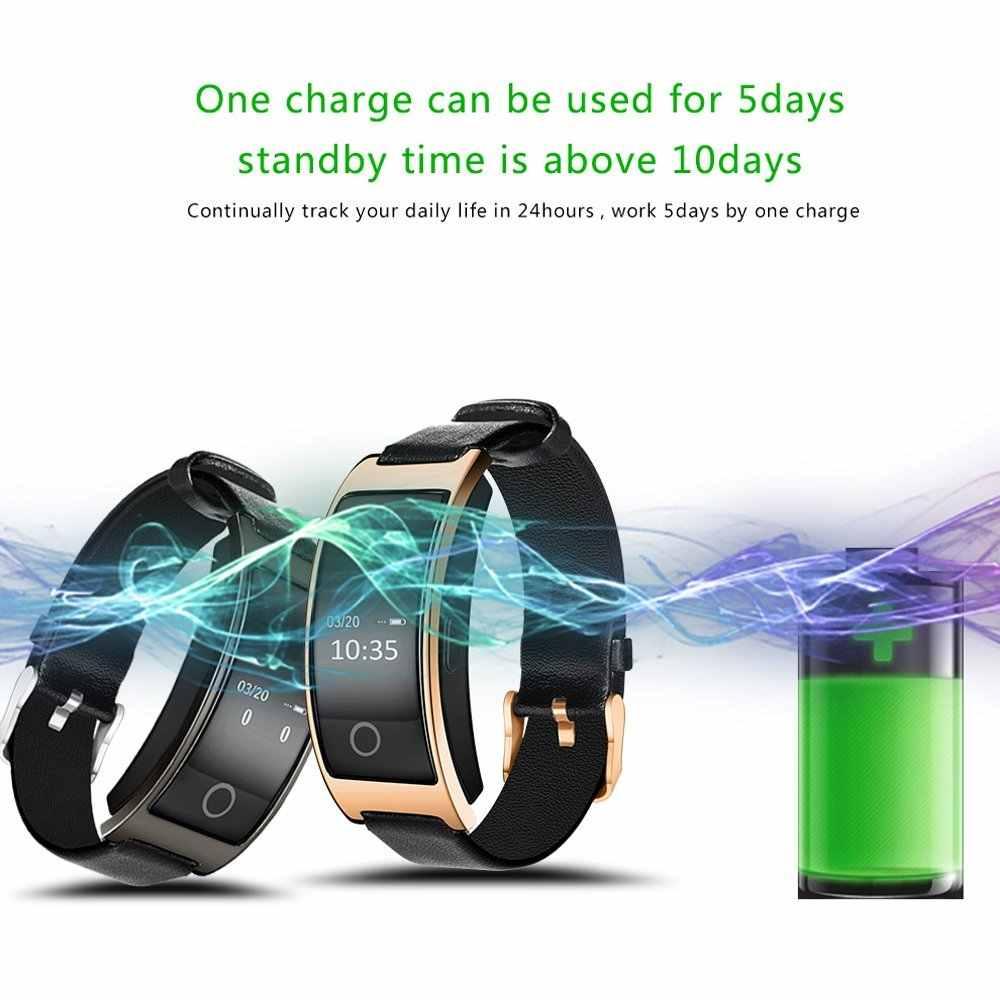 Darah Oksigen Smart Gelang CK11S Tekanan Darah Monitor Detak Jantung Smart Gelang Pedometer IP67 Tahan Air Smartband