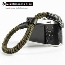 Alpinismo Corda di Nylon Della Macchina Fotografica Cinturino Da Polso Della Mano Cinghia per Mirrorless Fotocamera Digitale Leica Canon Nikon Olympus Pentax Sony