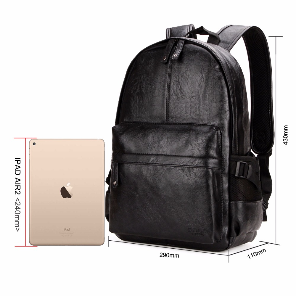 Vicuna Polo Famous Brand Preppy Style Leather School Backpack Bag For College Simple Design Men Casual Daypacks Mochila Male New #3