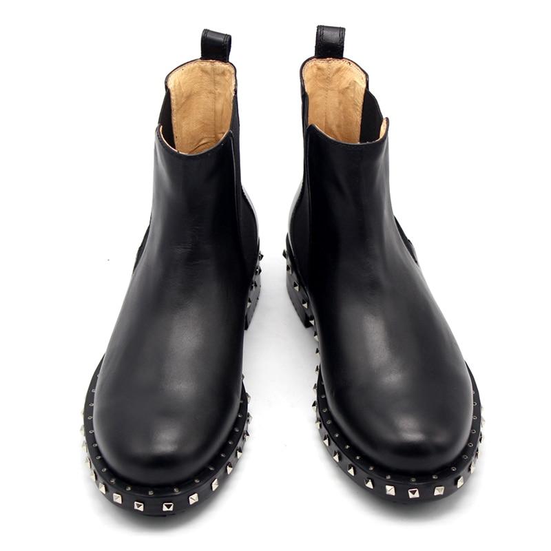2018 hiver hommes chaussures en cuir main épais bas pull en cuir chaussures de mariage hommes Oxford chaussures