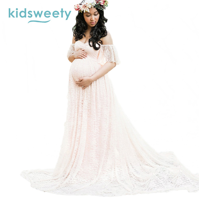 Queenus Sexy Women Maternity Dress Photo Shoot Maxi Maternity Gown ...