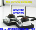Mini Todo en uno SE ESCONDIÓ kit de conversión de xenón H8/H9/H11/9005 (HB3) 9006 (HB4) 12V35W balastos para lámparas de xenón 4300K6000K8000K envío gratis