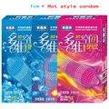 (120 piezas) Hot 3D espacios de hielo y picor de spike productos del sexo del condón condones para los hombres adultos de silicio camisinha con paquete al por menor