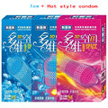 (120pieces) Hot 3D spaces ice and hotness spike condom sex products silicon condoms for men adult camisinha with retail package