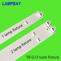 4 60/pack T8 G13 Tube Light Fixture 2FT 3FT 4FT 5FT Single/Double Lamp Housing T8 Bulb Bracket