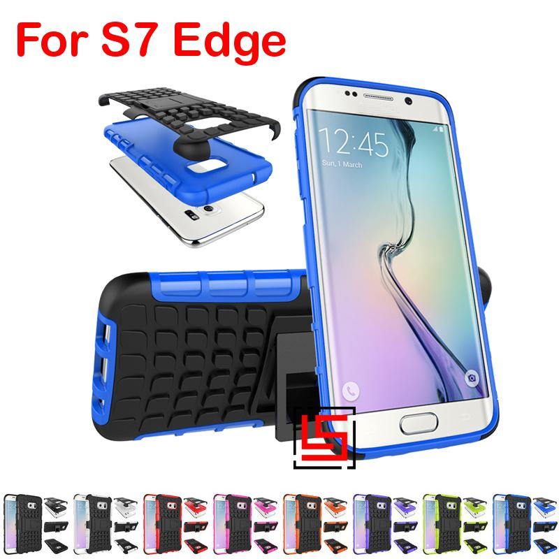Armor Rugged Hybrid Hard PC TPU Silicone ShockProof Phone Case shell Cover Bag Cove For Samsung Sumsang Galaxy S7 Edge SM G935