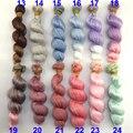 6 или 12 шт./лот 15 СМ Х 100 см серо-голубой розовый зеленый фиолетовый коричневый цвет вьющиеся кукла парики волос для 1/3 1/4 1/6 BJD SD diy