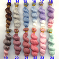 6 or 12 pieces/lot 15CM  X 100cm grey blue pink green purple brown color curly doll wigs hair for 1/3 1/4 1/6 BJD SD diy