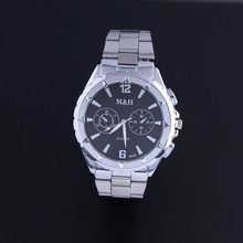 2016 Mens Watches Top Brand Luxury Stainless Steel Mesh Band Silver Watch Man Business Quartz-watch Male Relogio Masculino OP001