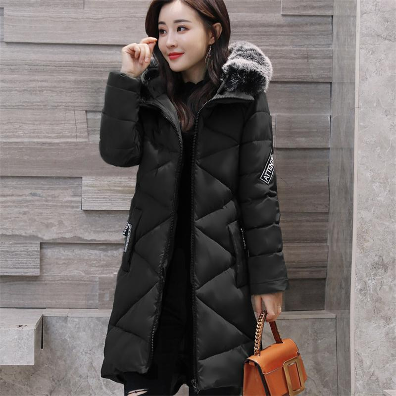 Women Cotton Coats 2017 New Winter Solid Fashion Thicken Jacket Slim Hooded Duck Long Down Parka Warm Coats Plus Size winter women parkas solid color mid long section large size thicken down cotton jackets fashion hooded slim cotton coats ly0254