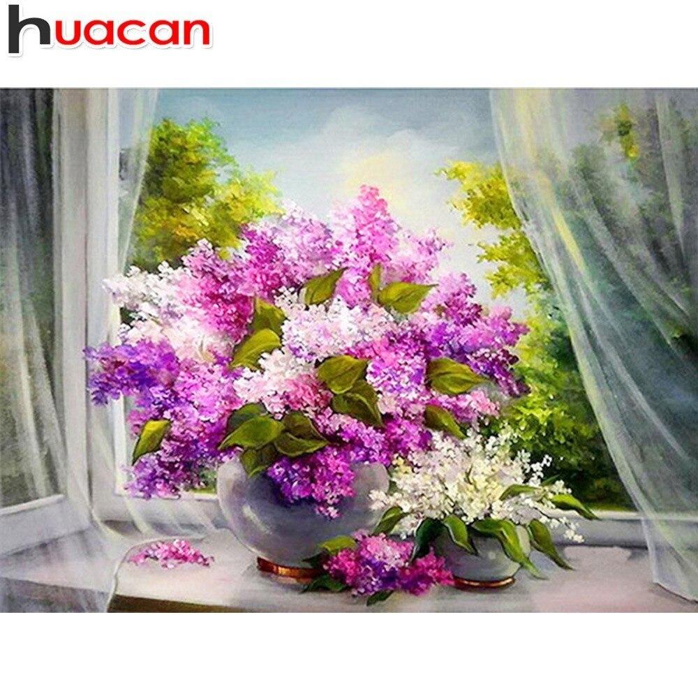 Huacan 5D алмазная картина, новый цветок, вышивка, распродажа, полный квадрат/круглая дрель, вышивка крестом, мозаика, домашний декор, Прямая поставка|Алмазная роспись, вышивка крестом|   | АлиЭкспресс