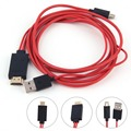 HOT SALE! NEW MHL Micro USB to HDMI Cable with 11 pin for Samsung Galaxy S1-4 Note1-4,IN STOCK!