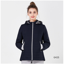 ICEbear Women's 2018 Thin Spring Parkas Casual Cotton Padded Jackets Thin And Light Polyester Slim Short Hooded Coat GWC18038D