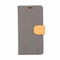 For Samsung Galaxy J7 PU leather case Flip wallet card slot holder Double color canvas mobile phone case