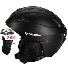 MOON Hot Sale Ski Helmet Integrally-molded Skiing Helmet For Adult and Kids Snow Helmet Safety Skateboard Ski Snowboard Helmet