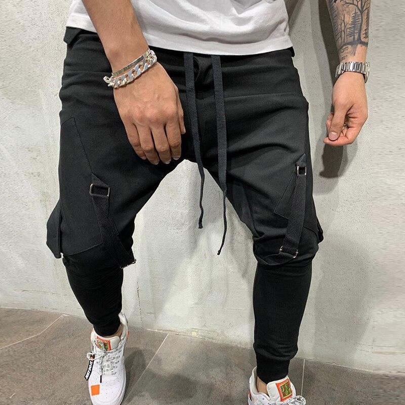 MJARTORIA Joggers Hip Hop Pants Men's Casual Pockets Trousers Mens Autumn Multicolor Sweatpants Fashion Overalls Trousers