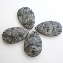 цена Hot Selling Fashion Natural Stone Section Cut Face Water Drop Pendants Charms Flash Stone With Hole 4PCS/Lot Free Shipping онлайн в 2017 году