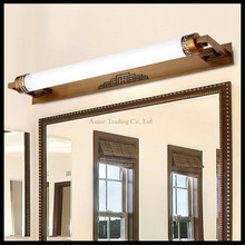L47cm 67cm 87cm Chinese style led mirror front lamps bathroom mirror light vanity light bronze  black color LED lighting fixture