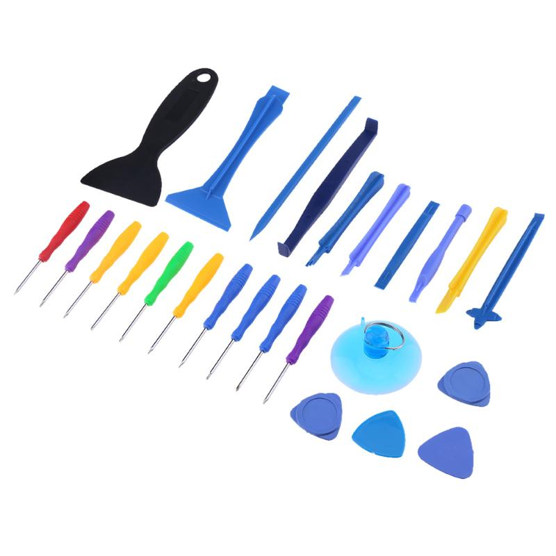 Alloet 25 In 1 Smart Phone Tablet LCD Disassembly Opening Repairing Tool Kit For Sumsung Huawei Phones