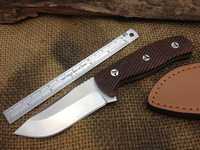 NEW! EDC Hunting Fixed Knives,5Cr15Mov Blade Wood Handle Camping Survival Knife,Full Tang Tactical Knife.