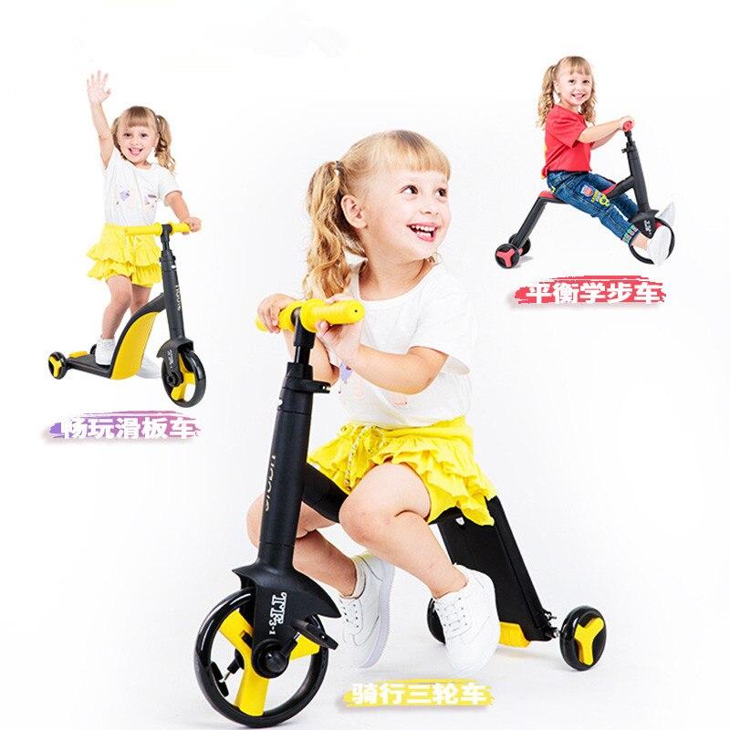 Nouveau enfants Scooter Tricycle bébé 3 en 1 Balance vélo tour sur jouets bébé marcheur pour 2-6 ans