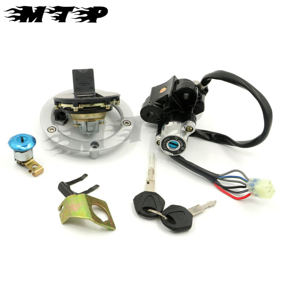 6 wires Ignition Switch Lock Gas Cap Key Set For Suzuki