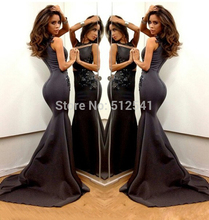 Sexy Slim Evening Dresses High Neck Mermaid Trumpet Applique Beads Zipper Back Formal Gowns yk1A891