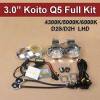 Car Headlight Hid Bi Xenon Projector Lens Kits Koito Q5 35W D2 HID Xenon Bulb Fast HID Ballast Wire Harness and Projector Shroud