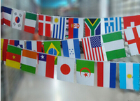 Factory Supply New Quality Cheap Price New 2014 Brazil World Cup 32 Country String Flag 14x21