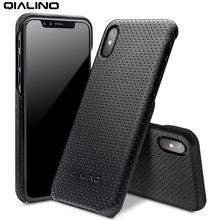 Здесь можно купить   QIALINO Bussiness Bag Case for iPhone X  Ultra Thin Genuine Leather Phone Cover for iPhone X Back Case Mobile Phone Accessories & Parts