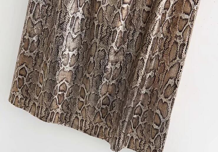 Autumn and Winter Snake Print Long Skirt Sequined High Waist Skirt Lady Fashion Streetwear 15