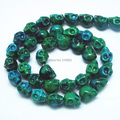 38 Pieces/Lot Nature Stone Beads Skull Shape Fashion Beads Accessories Size 8x10mm Dark Green  Color