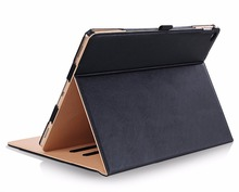 Premium PU Leather Case Smart Cover for New iPad 2017 9.7 Stand Case with Hand Strap for ipad Air 1 2 Case +Card Slots Pocket protective pu leather case cover w card slots strap for iphone 5c purple