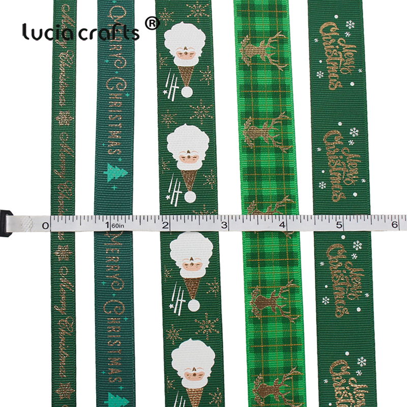 HTB1Uoele8Kw3KVjSZTEq6AuRpXan 5yards/lot 10mm/15mm/25mm Polyester Printing Christmas Grosgrain Ribbons DIY Xmas Party Wrapping Decor Supplies Material X0203